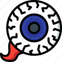 creepy, disgusting, eye, gross, spell, spooky icon