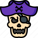 scary, skull, creepy, dead, bones, pirate, costume