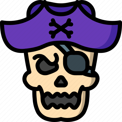 Bones, costume, creepy, dead, pirate, scary, skull icon - Download on Iconfinder