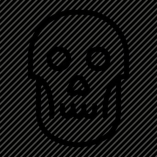 creepy, dead, halloween, skull icon