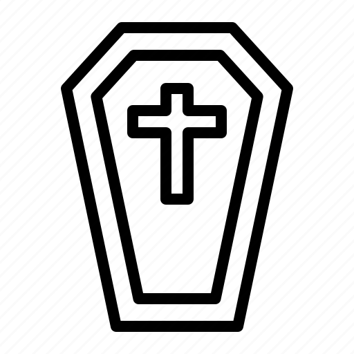 Burial, cemetery, coffin, grave, halloween icon - Download on Iconfinder