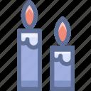 candles, church, halloween icon