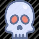 dead, halloween, skeleton, skull icon