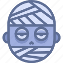 halloween, horror, monster, mummy icon