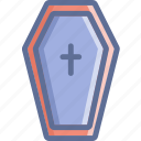 casket, coffin, death, halloween icon