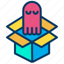 box, halloween, package, shipping icon