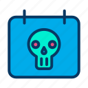 calendar, date, halloween icon