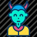creepy, evil, halloween, scary icon