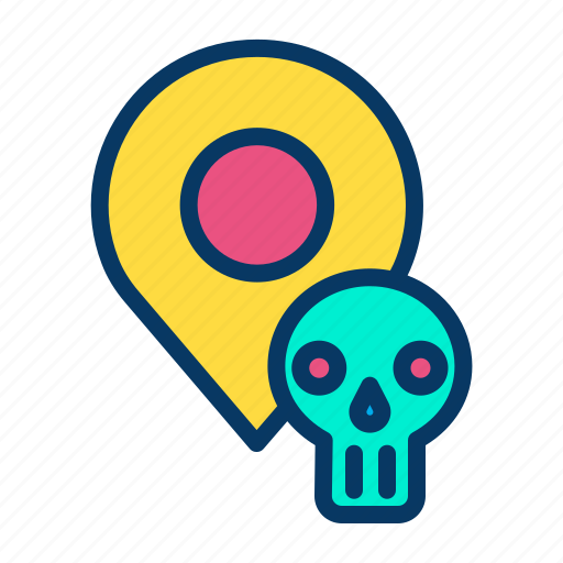 halloween, horror, navigation, place icon