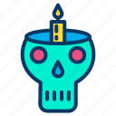 candle, ghost, halloween, lamp, light, skull icon
