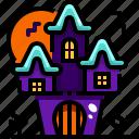 buildings, castle, fantasy, halloween, haunted, house icon