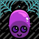 animal, arachnid, cobweb, halloween, kingdom, spider, web icon