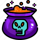 container, danger, flask, halloween, liquid, poison, potion icon