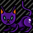 animals, breed, cat, halloween, mammal, pet, smiling icon