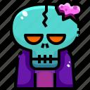 fear, horror, scary, smileys, spooky, terror, zombie icon