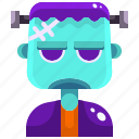 frankenstein, halloween, horror, monster, scary, spooky, terror icon