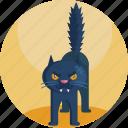 bad, black, cat, creepy, halloween, luck, mean icon