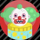 avatar, clown, costume, creepy, doll, halloween, scary