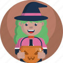 avatar, girl, halloween, treat, trick, witch, young icon