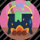 caldron, cook, creepy, green, halloween, slime, witch icon