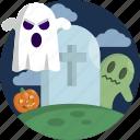 dark, ghost, grave, graveyard, halloween, night, scary icon