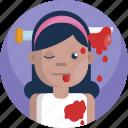 avatar, bloody, dead, girl, halloween, head, knife