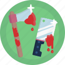 ax, blood, halloween, kinfe, scary, weapon icon