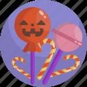 candy, festive, halloween, lollipop, pumpkin, sweet, treat icon