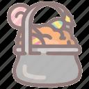 cake, candy, dessert, food, halloween, pot, sweet