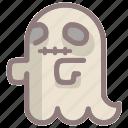 emoticon, ghost, halloween, horror, scary, spooky