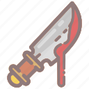 blade, bloody, cut, knife, murder, blood, spooky icon