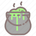 poison, pot, potion, witch, witchcraft icon