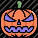 fruit, halloween, horror, pumpkin, scary, spooky