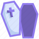 ghost, scary, halloween, coffin, horror, death, spooky icon