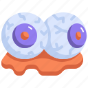 scary, bloody, halloween, horror, eyes, spooky, eyeball icon