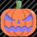 scary, pumpkin, halloween, fruit, horror, spooky