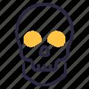 horror, skull, halloween, death, scary