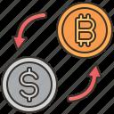 exchange, digital, money, bitcoin, cryptocurrency