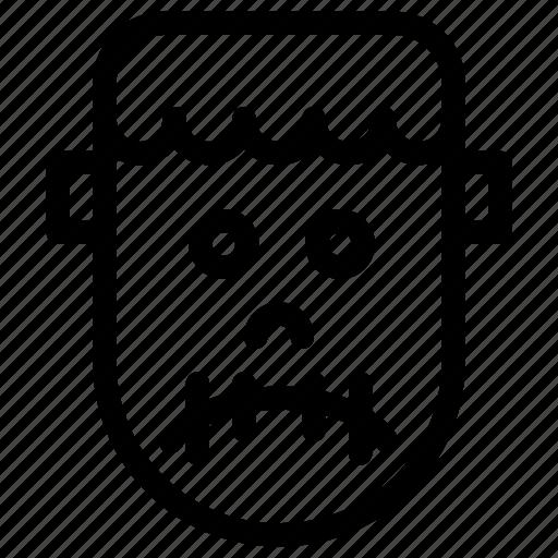 avatar, celebration, costume, creative, dark, evil, frankenstein, grid, halloween, horror, line, monster, parties, people, scary, shape, spooky, trick-or-treat icon