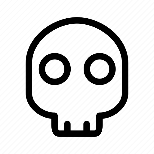 celebration, costume, creative, danger, dark, dead, death, evil, fun, grid, halloween, head, line, monster, parties, scary, shape, sign, skeleton, skull, spooky, tattoo, trick-or-treat icon