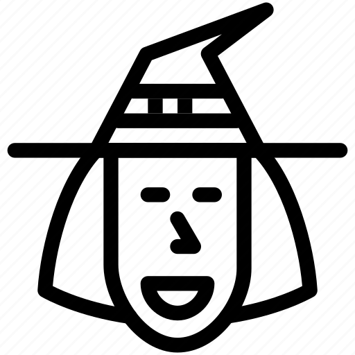 celebration, costume, creative, dark, evil, fun, grid, halloween, hat, line, magic, monster, parties, people, person, scary, shape, spell, spooky, trick-or-treat, wand, witch, witch-hat, wizard icon