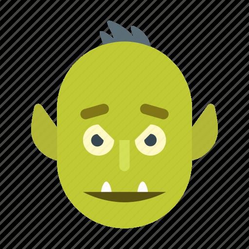 goblin, halloween, hobgoblin, monster, orc, scary, spooky icon