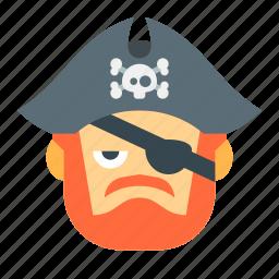 danger, evil, halloween, horror, pirate, scary, skull icon