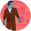 halloween character, halloween costume, mysterious man, scary human, spooky man icon