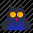 halloween, night, owl, scary