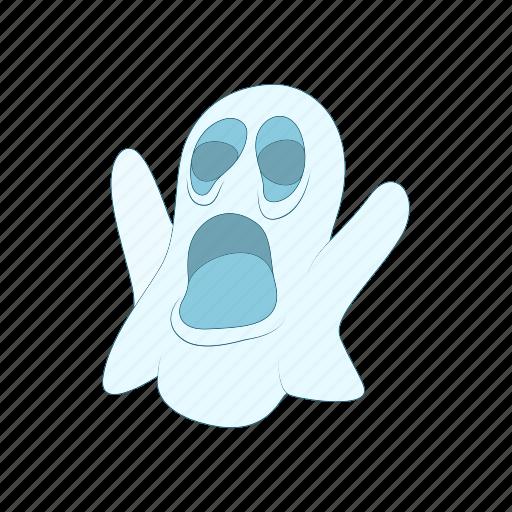 cartoon, fun, ghost, halloween, holiday, spooky, white icon