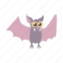 animal, bat, cartoon, fly, mammal, wildlife, wing icon