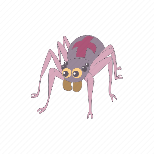 cartoon, danger, gray, halloween, horror, insect, spider icon