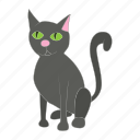 animal, cartoon, cat, domestic, feline, mammal, pet icon