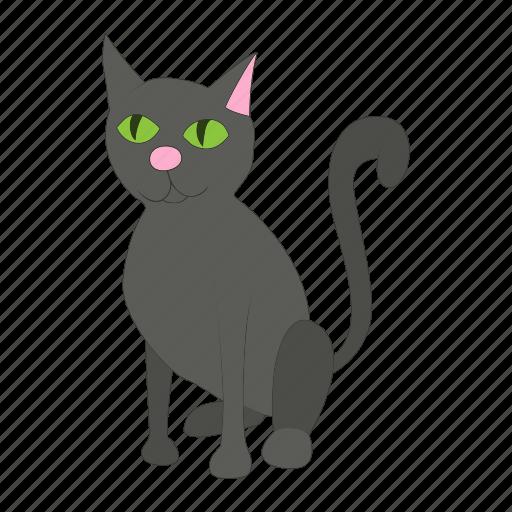 animal, cartoon, cat, domestic, feline, mammal, pet icon